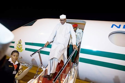 Breaking: President Buhari Arrives Nigeria